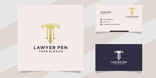 Avvocato con modello logo penna