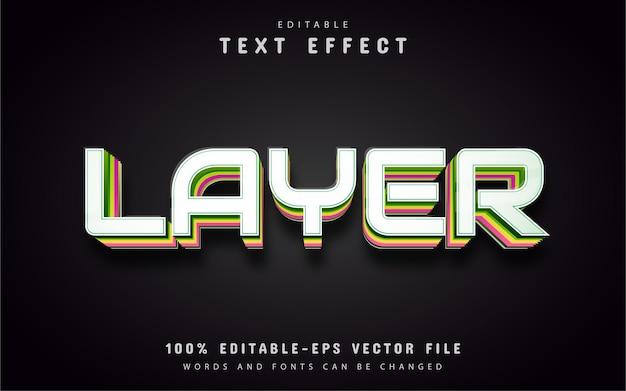 Testo del livello, effetto di testo modificabile