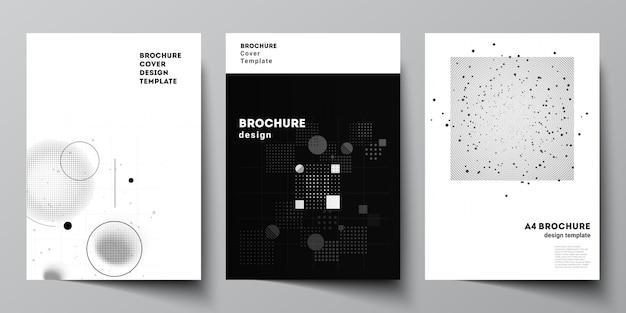 Layout di modelli di mockup di copertina a4 per brochure