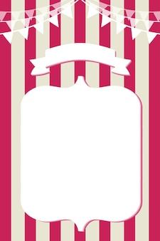 Layout per un banner pubblicitario - mockup di design modello in stile vintage retrò