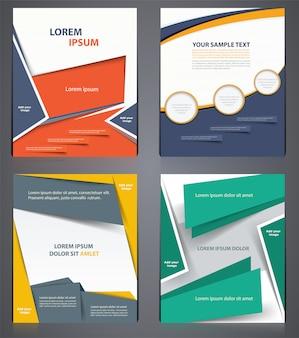 Opuscoli aziendali layout, modello di progettazione volantino in formato a4 o copertina di una rivista