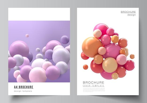 Layout dei modelli di mockup di copertina per brochure
