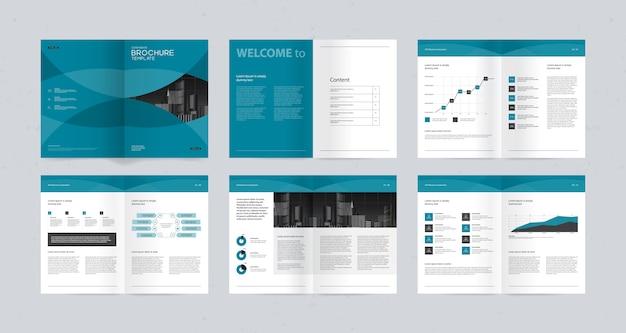 Modello di progettazione del layout per il profilo aziendale