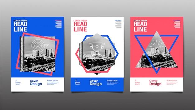 Modello di progettazione del layout, futuro, affari, progettazione del layout del modello, copertina. illustrazione.