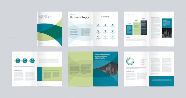 Modello di progettazione del layout con copertina della pagina