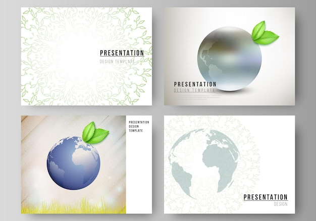 Layout delle diapositive di presentazione progettare modelli di business per brochure di presentazione
