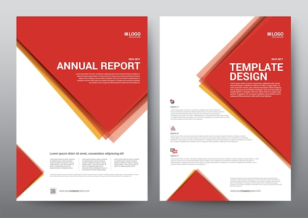 Layout template brochure poster, leaflet, annual report.