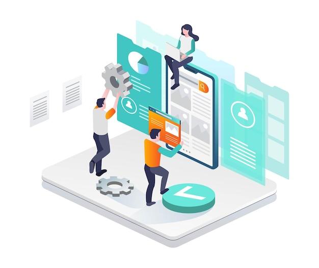Sviluppatore web e app di layout