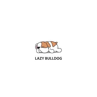 Cane pigro, icona di sonno cucciolo carino bulldog