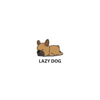 Cane pigro, icona di sonno cucciolo carino bulldog francese