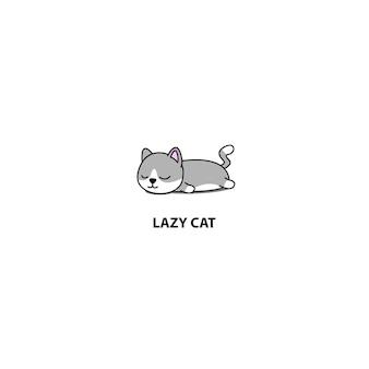 Icona di sonno gatto pigro munchkin