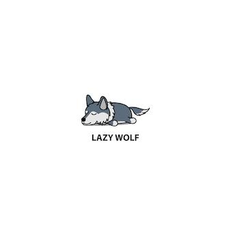 Icona di sonno lupo pigro