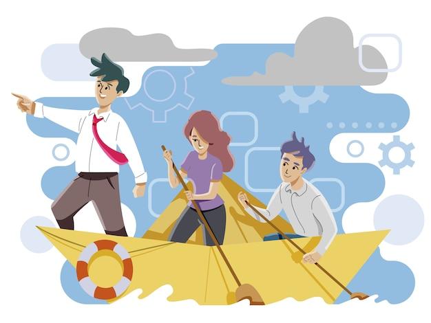Concetto di leadership e lavoro di squadra