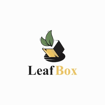 Logo foglia e scatola