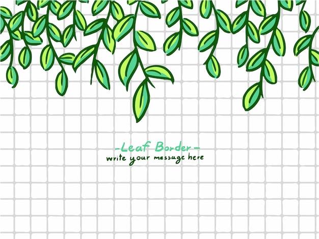 Confine di foglie di cartone