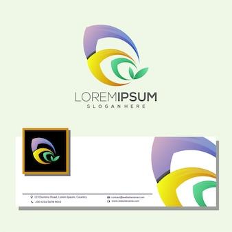 Logo colorato foglia