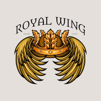 Leaf crown royal wing illustrazioni