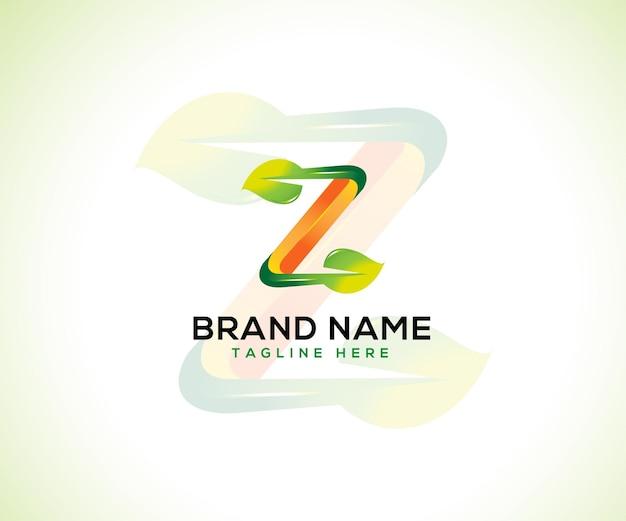 Foglia logo 3d lettera z