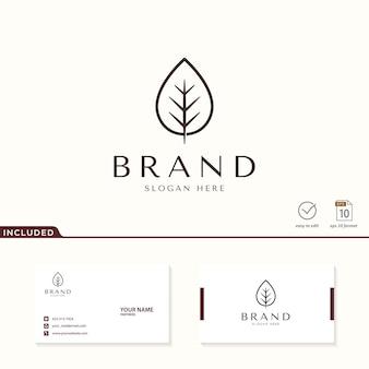 Ispirazione per il design del logo foglia