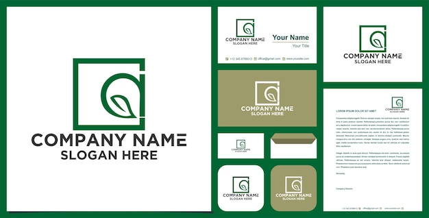 Un logo foglia premium