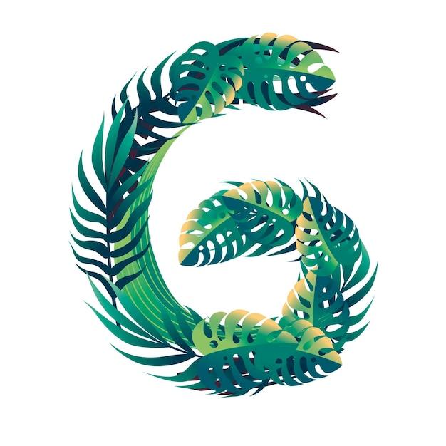 Foglia numero 6 con diversi tipi di foglie verdi e fogliame in stile cartone animato piatto vettoriale illustrazione isolato su sfondo bianco.
