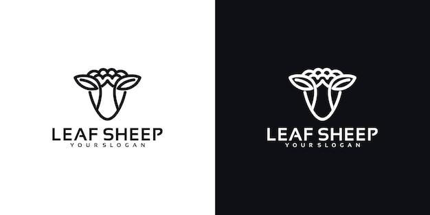 Logo della pecora foglia, riferimento per il business