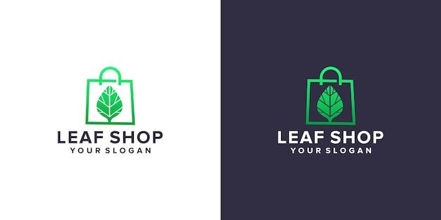 Logo del negozio di foglie