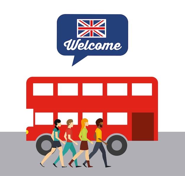 Impara il design inglese Vettore Premium