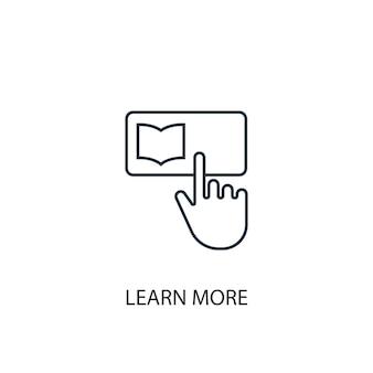 Ulteriori informazioni sull'icona della linea di concetto. illustrazione semplice dell'elemento. per saperne di più concetto di contorno del design del simbolo. può essere utilizzato per ui/ux mobile e web