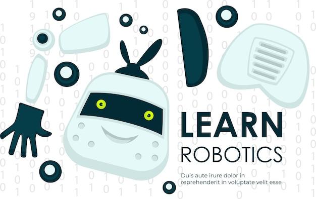 Impara la scienza e l'ingegneria della robotica vettore