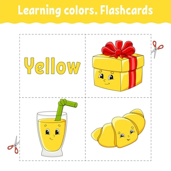 Imparare i colori. flashcard per bambini.