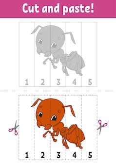 Imparare i numeri 15 taglia e incolla personaggio dei cartoni animati