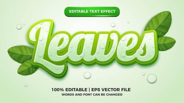 Lascia un nuovo modello di stile del logo con effetto testo modificabile