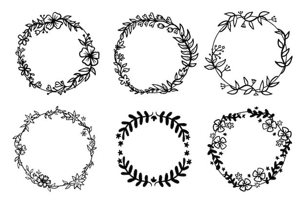 Foglie sulla raccolta cornice ornamentale