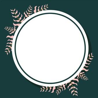 Cornice rotonda di foglie