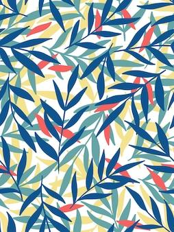 Le foglie. modello senza cuciture, disegnato a mano.