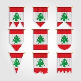 Bandiera del libano in diverse forme, bandiera del libano in varie forme