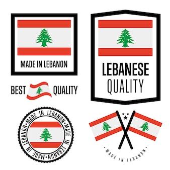 Set di etichette di qualità del libano