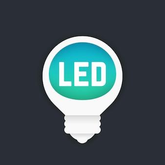 Illustrazione vettoriale di lampadina a led