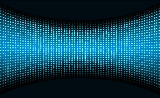 Display a led sullo schermo di proiezione sullo sfondo