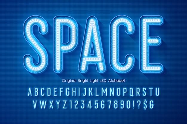 Alfabeto luminoso a led