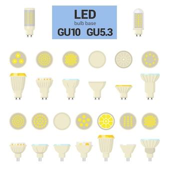 Lampadine led con gu10 e gu5 Vettore Premium