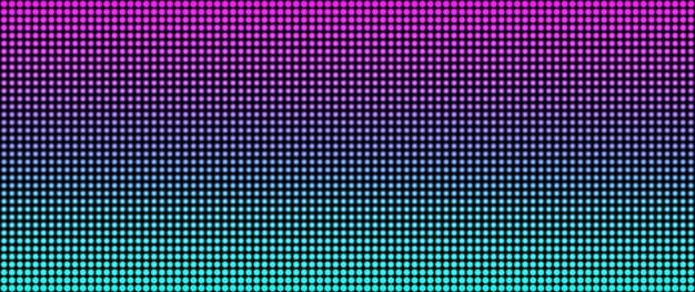 Schermo a led. display digitale con punti.
