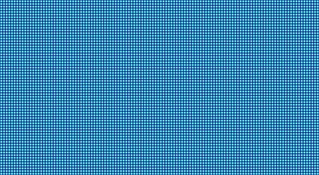 Schermo a led. trama digitale. videowall blu. monitor lcd con punti.