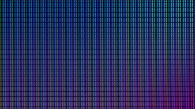 Trama dello schermo a led. display digitale. monitor analogico lcd. illustrazione vettoriale.