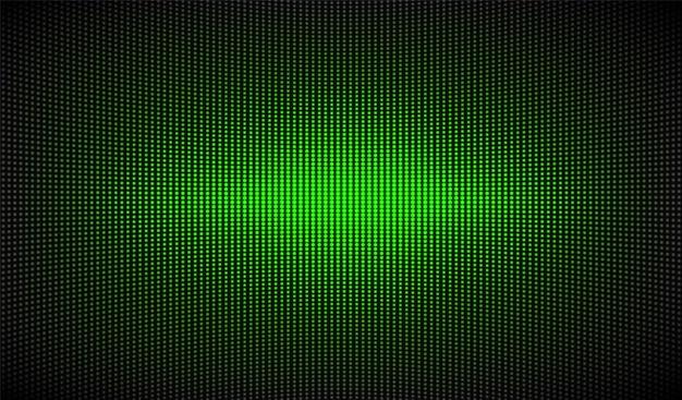 Trama dello schermo a led. display lcd tv verde. illustrazione vettoriale.