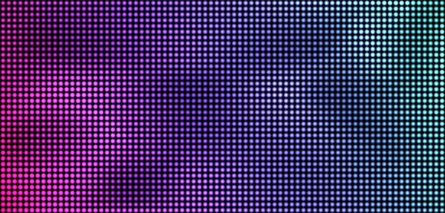 Trama dello schermo a led. monitor digitale lcd. effetto diodo elettronico. display analogico. videowall per televisione a colori.
