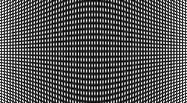 Trama dello schermo a led. display lcd con punti. sfondo tv pixel.