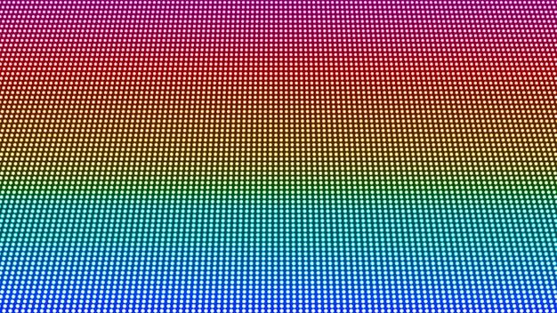 Trama dello schermo a led. sfondo digitale pixel. effetto diodo elettronico. monitor lcd. griglia del proiettore