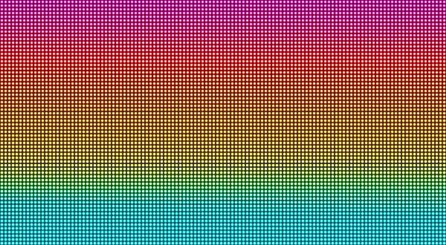 Trama dello schermo a led. sfondo digitale pixel. monitor lcd con punti. effetto diodo elettronico. illustrazione